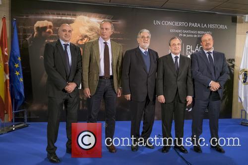 Placido Domingo, Bertin Osborne and Florentino Perez 7