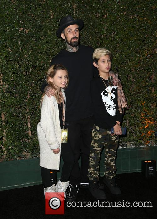 Travis Barker, Landon Asher Barker and Alabama Luella Barker 1