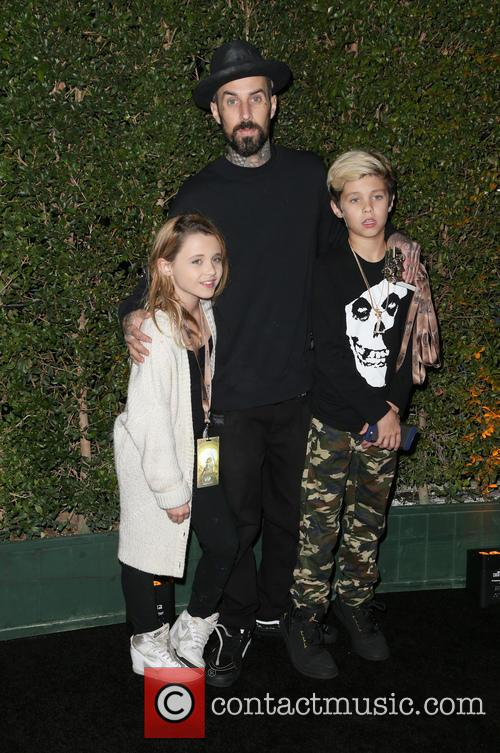 Travis Barker, Landon Asher Barker and Alabama Luella Barker 3