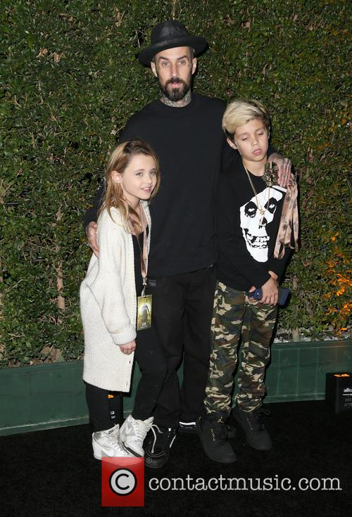 Travis Barker, Landon Asher Barker and Alabama Luella Barker 4