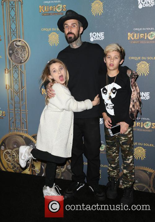 Travis Barker, Landon Asher Barker and Alabama Luella Barker 5