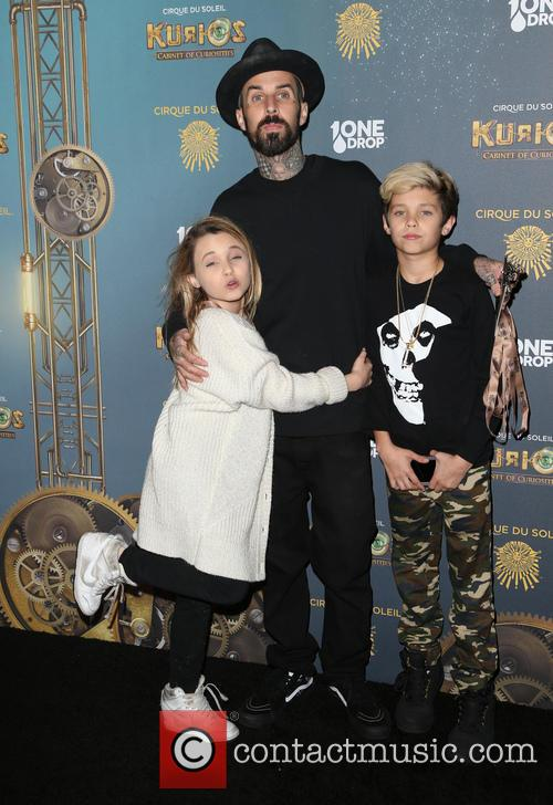 Travis Barker, Landon Asher Barker and Alabama Luella Barker 6
