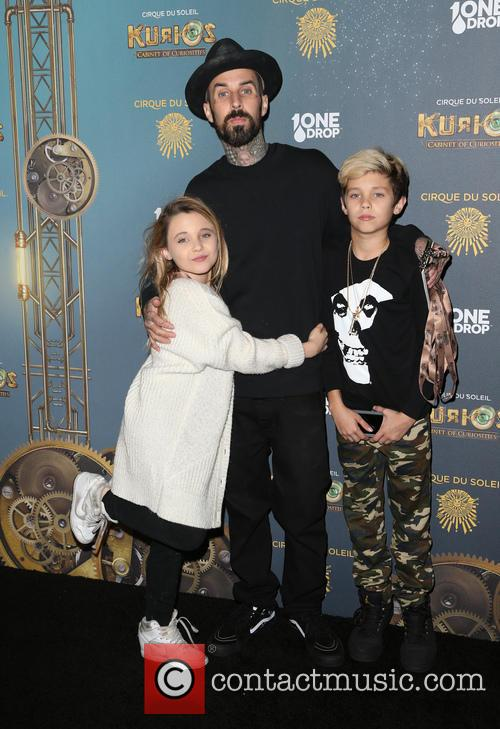 Travis Barker, Landon Asher Barker and Alabama Luella Barker 7