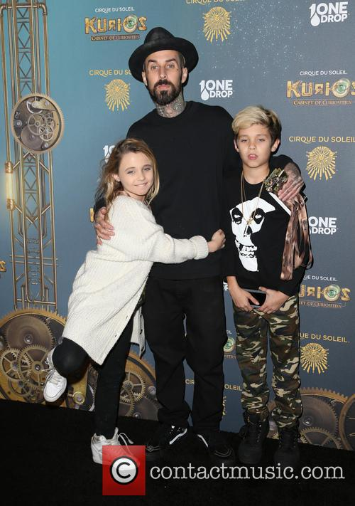 Travis Barker, Landon Asher Barker and Alabama Luella Barker 8