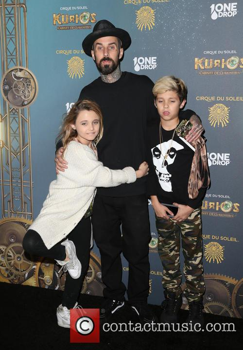 Travis Barker, Landon Asher Barker and Alabama Luella Barker 9