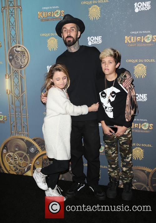 Travis Barker, Landon Asher Barker and Alabama Luella Barker 11