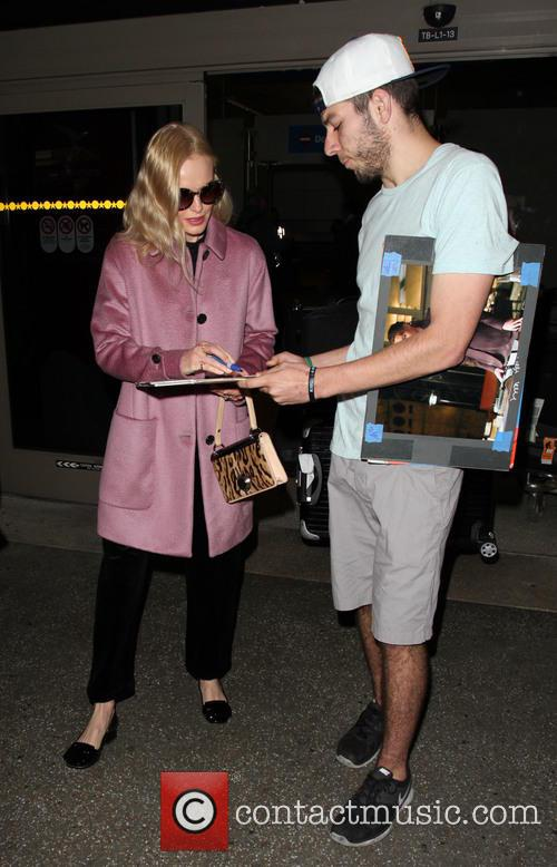 Kate Bosworth arrives on a flight to Los...