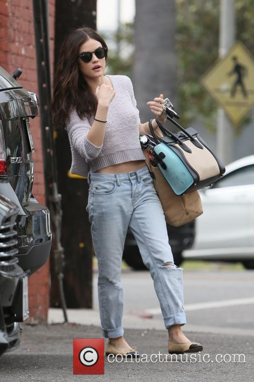 Lucy Hale seen leaving a gym