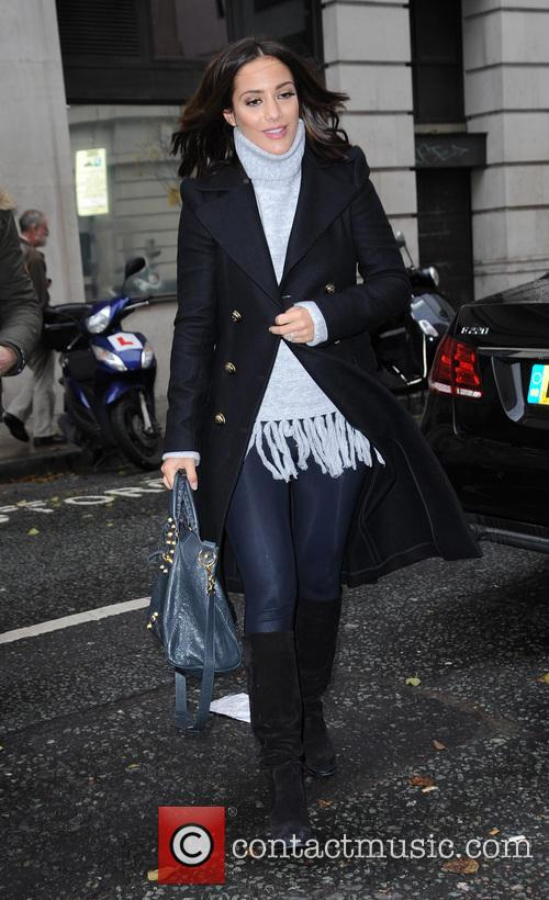 Frankie Bridge arrives at BBC Radio 2
