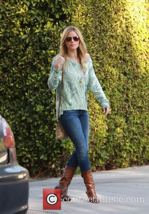 Ellen Hollman spotted leaving a private residence in...