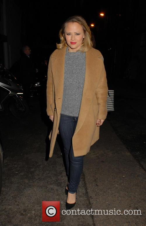 Kimberley Walsh leaves the Dominion Theatre after performing...