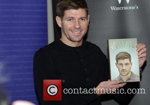 Steven Gerrard Signs Copies Of His Book 'My...