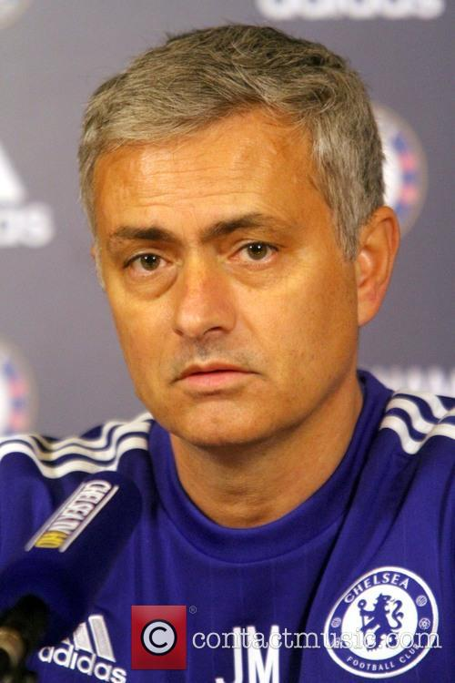 Jose Mourinho attends Chelsea's press conference