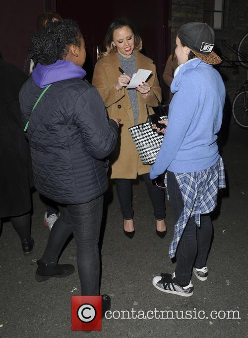 Kimberley Walsh seen leaving Dominion Theatre