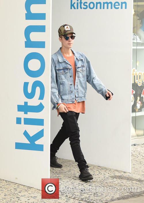 Justin Bieber spotted shopping at Kitson Men