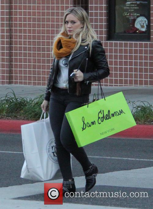 Hilary Duff shops in Beverly Hills