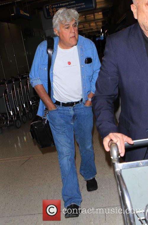 Jay Leno arrives at Los Angeles International (LAX)...