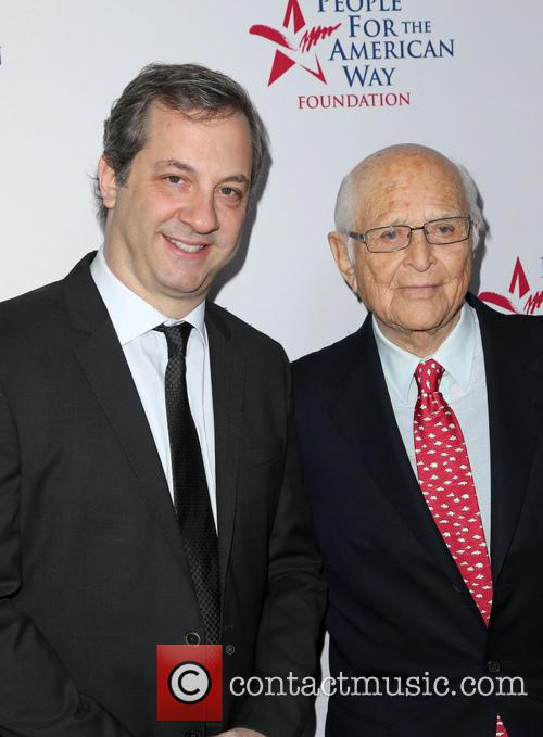 Judd Apatow and Norman Lear 2