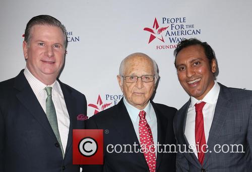Michael Keegan, Norman Lear and Aasif Mandvi 11