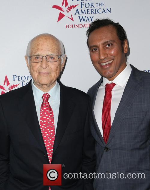 Norman Lear and Aasif Mandvi 7