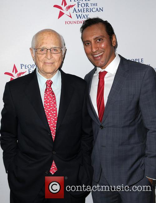 Norman Lear and Aasif Mandvi 8
