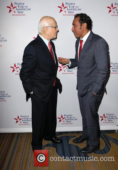 Norman Lear and Aasif Mandvi 10