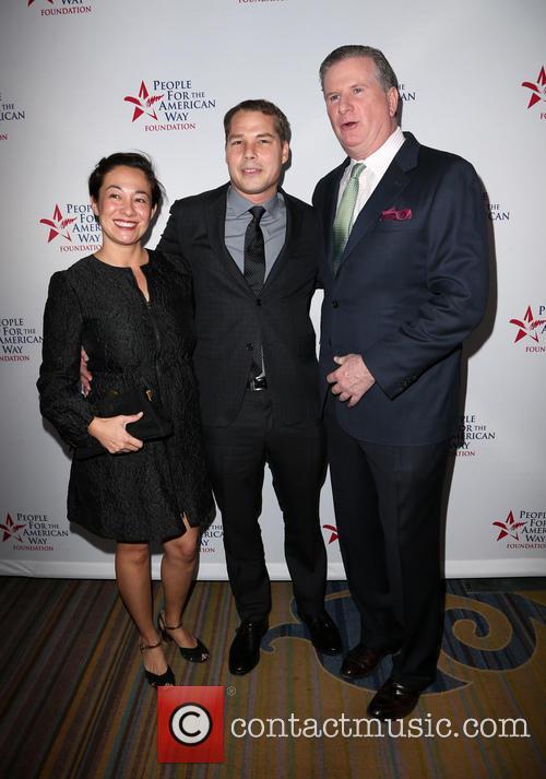 Amanda Fairey, Shepard Fairey and Michael Keegan 1