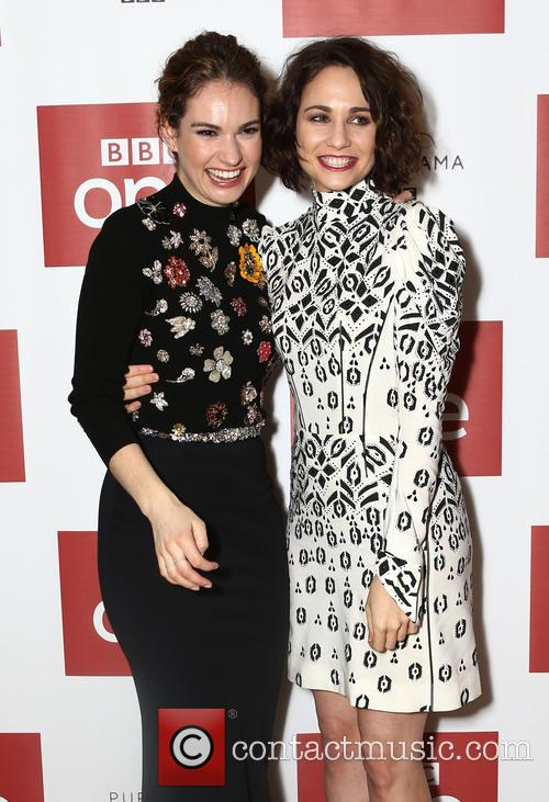 Lily James and Tuppence Middleton 7