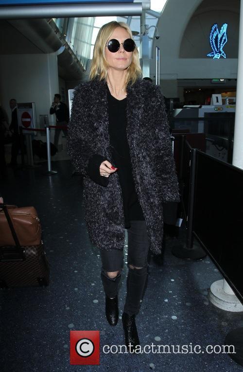 Heidi Klum arrives at LAX