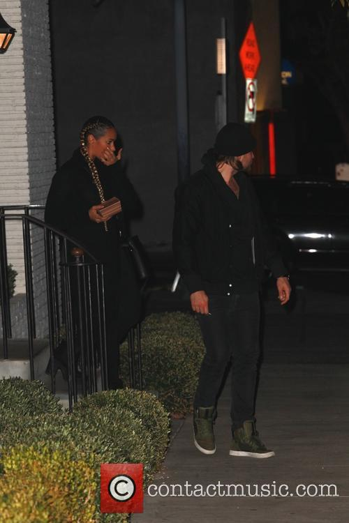 Leona Lewis and her boyfriend leave Gracias Madre...