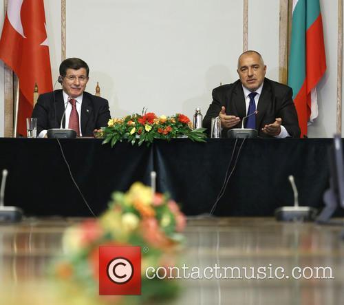 Boiko Borisov and Ahmet Davutoglu 1