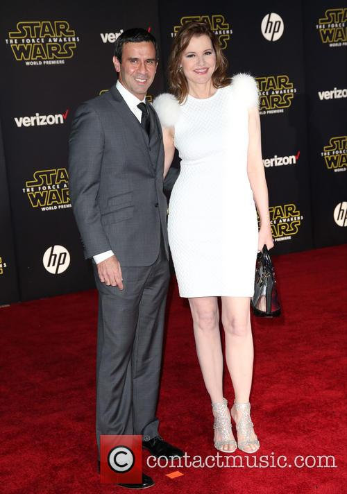 Reza Jarrahy and Geena Davis 1
