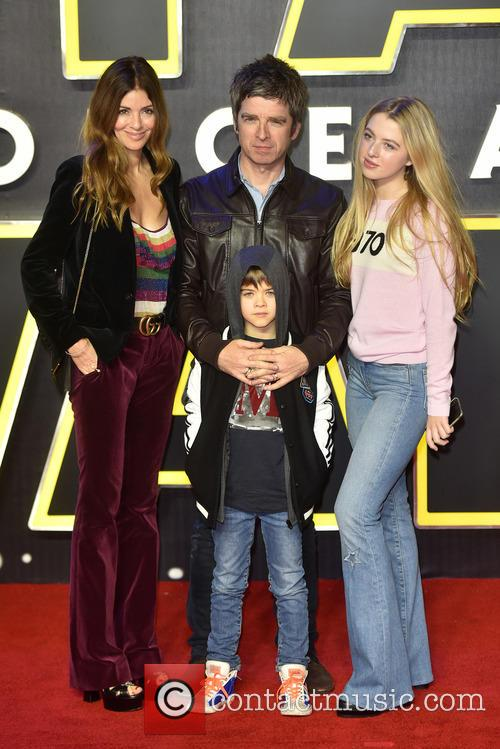 Sara Macdonald, Noel Gallagher, Anais Gallagher and Sonny Patrick Gallagher
