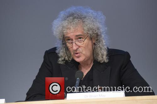 Brian May and Stephen Hawking 1