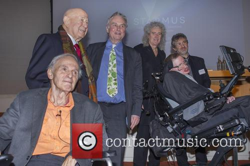 Brian May, Professor Sir Harry Kroto, Alexei Leonov, Dr Richard Dawkins, Professor Garik Israelian and Stephen Hawking 6