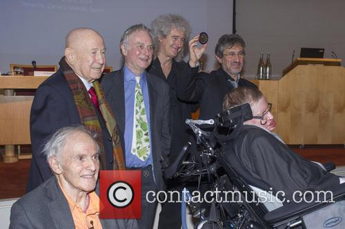 Brian May, Professor Sir Harry Kroto, Alexei Leonov, Dr Richard Dawkins, Professor Garik Israelian and Stephen Hawking 8