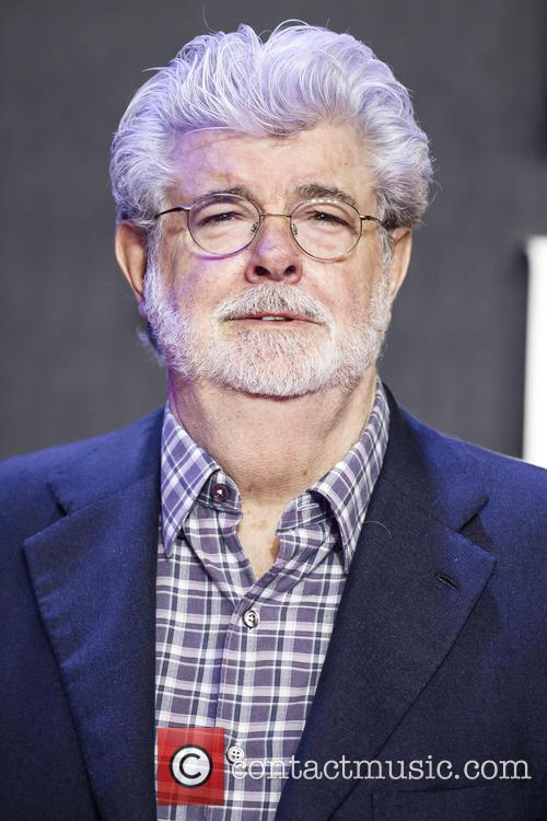 George Lucas at 'Star Wars: The Force Awakens' premiere