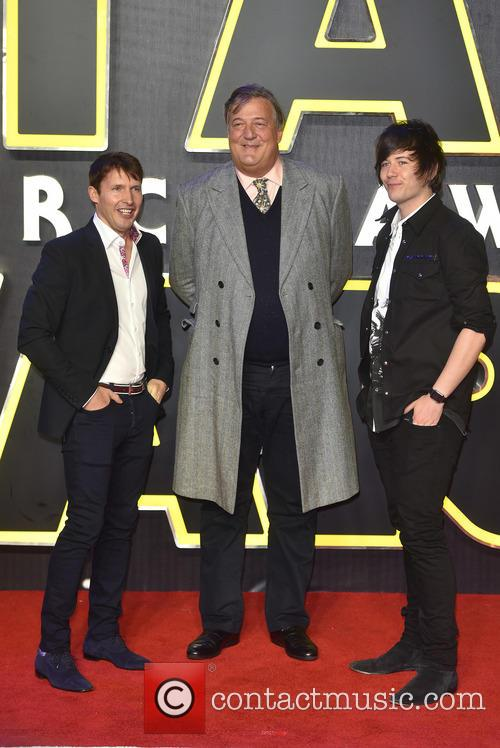 James Blunt, Stephen Fry and Elliott Spencer 2