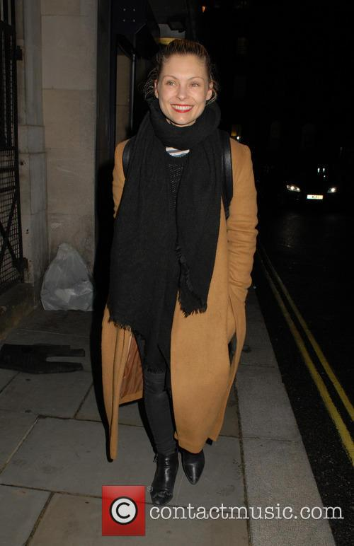 MyAnna Buring leaving the Trafalgar Studios