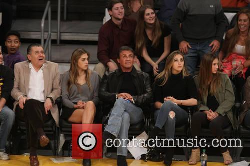 Sylvester Stallone, Sistine Rose Stallone, Sophia Rose Stallone and Scarlet Rose Stallone 1