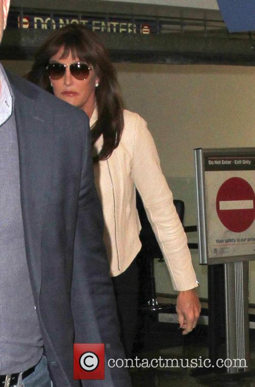 Caitlyn Jenner arrives at Los Angeles International Airport...
