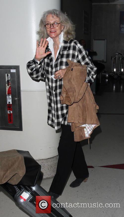 Blythe Danner arrives on a flight to Los...