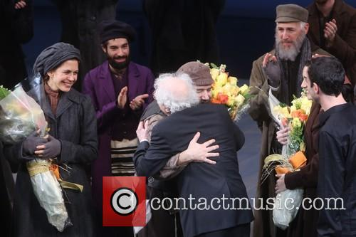 Jessica Hecht, Danny Burstein and Sheldon Harnick 7