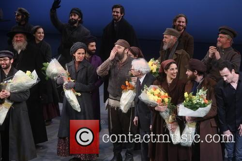 Jessica Hecht, Danny Burstein, Sheldon Harnick and Cast 11