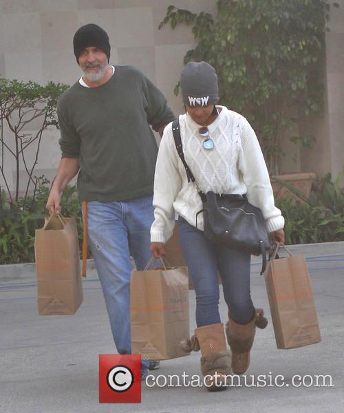 Christina Milian goes shopping at Naimie's Beauty Center