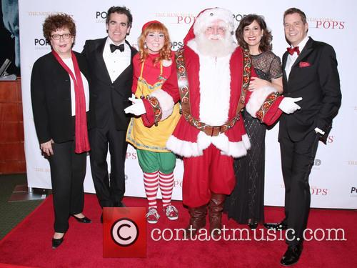 Judith Clurman, Brian D'arcy James, Elf, Santa Claus, Stephanie J. Block and Steven Reineke 2