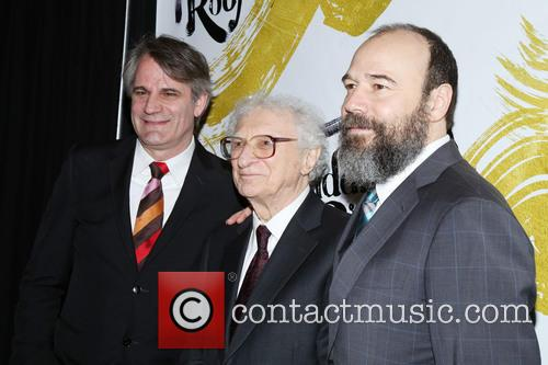 Bartlett Sher, Sheldon Harnick and Danny Burstein 4