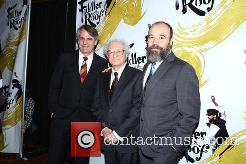 Bartlett Sher, Sheldon Harnick and Danny Burstein 5