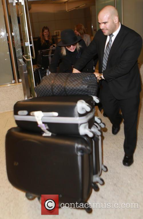 Diane Keaton arrives on a flight to Los...