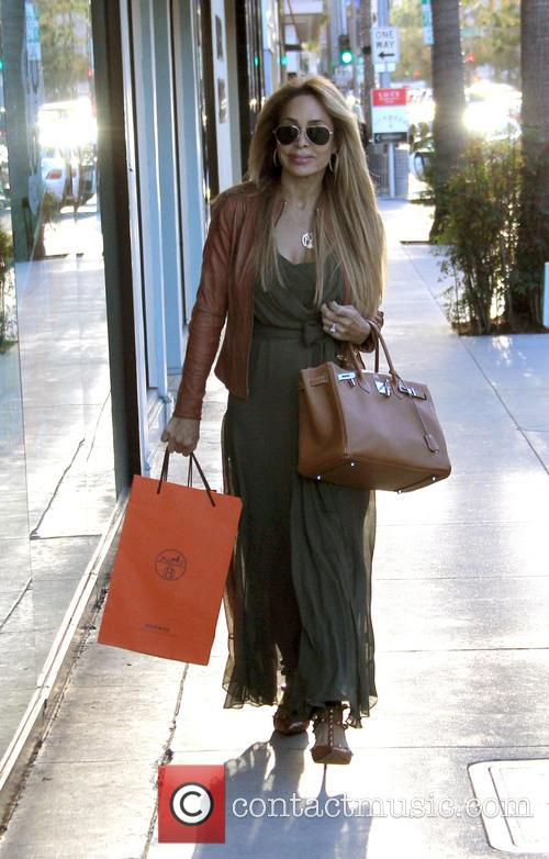 Faye Resnick shopping in Beverly hills